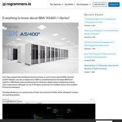 AS400 to IBM i - All you Need to Know