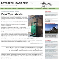 Power Water Networks