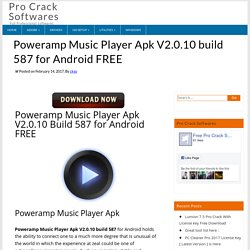 Poweramp Music Player Apk V2.0.10 build 587 for Android FREE