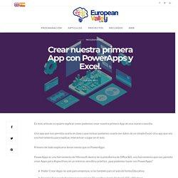 Crear nuestra primera App con PowerApps y Excel. – Blog Europeanvalley
