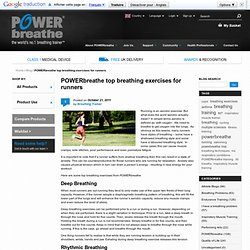 top breathing exercises for runners | POWERbreathe Blog