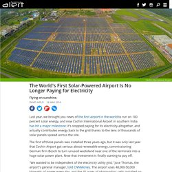 The world's first solar-powered airport is no longer paying for electricity