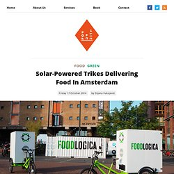 Solar-Powered Trikes Delivering Food In Amsterdam