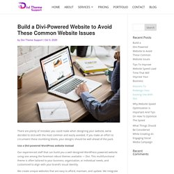 Build a Divi-Powered Website to Avoid These Common Website Issues