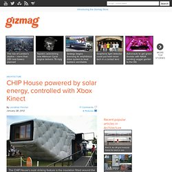 CHIP House powered by solar energy, controlled with Xbox Kinect - Images