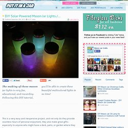 DIY Solar Powered Mason Jar Lights / Lantern Craft Tutorial