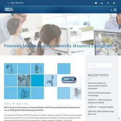 Powered mobile and permanently mounted equipment - METO Systems
