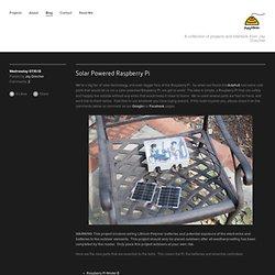 Journal - Weekend Project: Solar Powered, Outdoor RaspberryPi