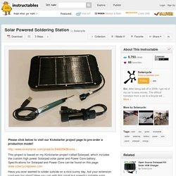 Solar Powered Soldering Station