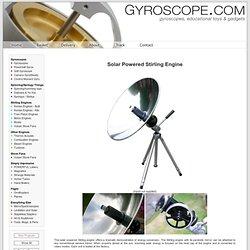 s Online - Solar Powered Stirling Engine -