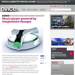 Music player powered by temperature changes