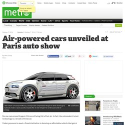 Air-powered cars unveiled at Paris auto show