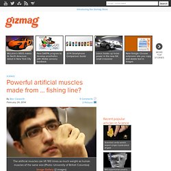 Powerful artificial muscles made from ... fishing line?