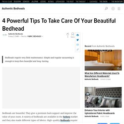4 Powerful Tips To Take Care Of Your Beautiful Bedhead