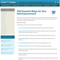 100 Powerful Blogs for Your Self-Improvement