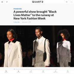 "Pyer Moss brought ""Black Lives Matter"" to the runway at New York Fashion Week"