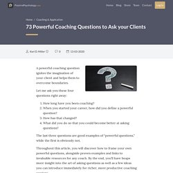 73 Powerful Coaching Questions to Ask your Clients