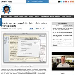 How to use two powerful tools to collaborate on writing projects