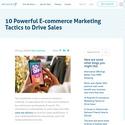 10 Powerful E-commerce Marketing Tactics to Drive Sales