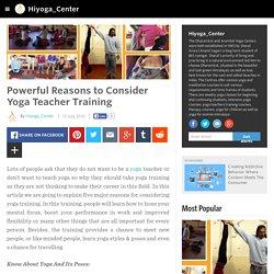 Hiyoga_Center - Powerful Reasons to Consider Yoga Teacher Training