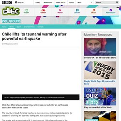 Chile lifts its tsunami warning after powerful earthquake - CBBC Newsround
