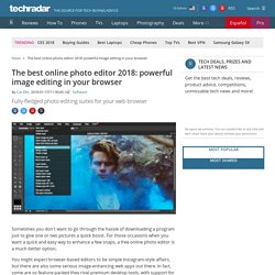 The best online photo editor 2018: powerful image editing in your browser