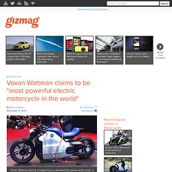 "Voxan Wattman claims to be ""most powerful electric motorcycle in the world"""
