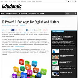 10 Powerful iPad Apps For English And History