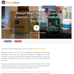 Always Sick? These 8 Powerful Essential Oils Can Kill Practically Any Germ : The Hearty Soul