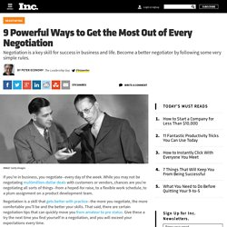 9 Powerful Ways to Get the Most Out of Every Negotiation