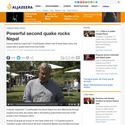 Powerful new earthquake hits devastated Nepal