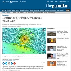 Nepal hit by powerful 7.9 magnitude earthquake