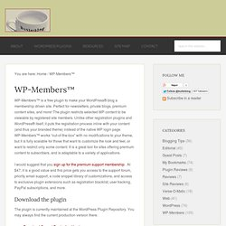 WP-Members | ButlerBlog (Build 20120215223356)