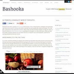 50 Powerful Minimalist Website Templates | Bashooka | Cool Graphic & Web Design Blog