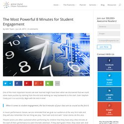 The Most Powerful 8 Minutes for Student Engagement