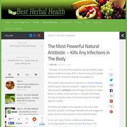 The Most Powerful Natural Antibiotic – Best Herbal Health