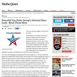 Powerful Tea Party Group's Internal Docs Leak—Read Them Here