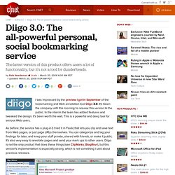Diigo 3.0: The all-powerful personal, social bookmarking service