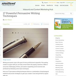 17 Powerful Persuasive Writing Techniques