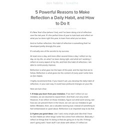 5 Powerful Reasons to Make Reflection a Daily Habit, and How to Do It