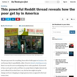 This powerful Reddit thread reveals how the poor get by in America