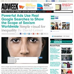 """Auto-Complete Truth"" Campaign from UN Women"