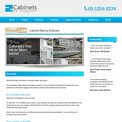 WoodCAM - Powerful Cabinet Making Software