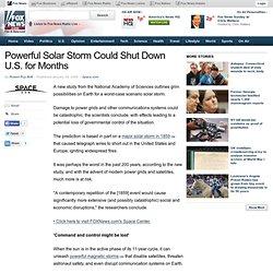 Puissante tempête solaire pourrait fermer des États-Unis pendant des mois - Nouvelles Science