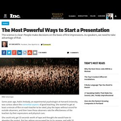 The Most Powerful Ways to Start a Presentation