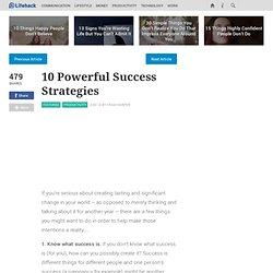 10 Powerful Success Strategies