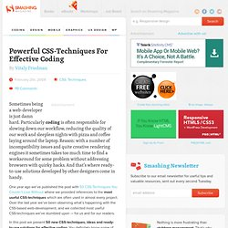 Powerful CSS-Techniques For Effective Coding | CSS | Smashing Ma