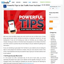 Powerful Tips to Get Traffic from YouTube