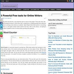 5 outils d'écriture en ligne