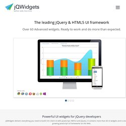 Powerful UI widgets for jQuery and HTML5 cloud apps